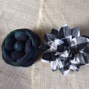 Talbots Pair of Flower Brooches